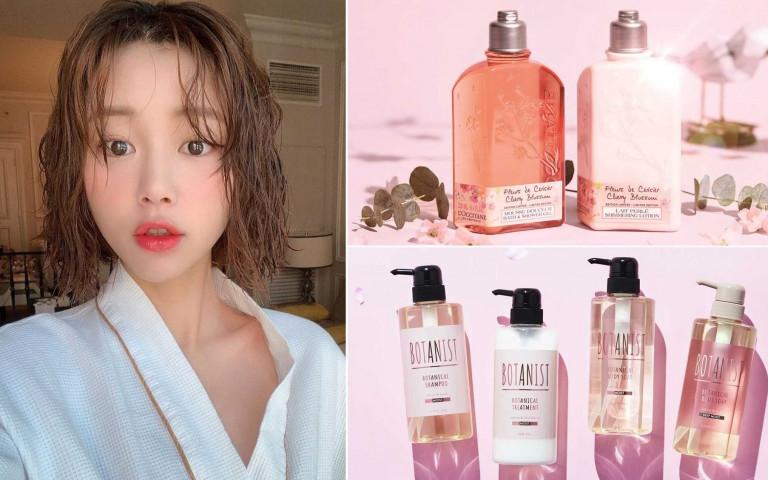 少女們最愛的「粉紅花香系洗髮精、沐浴乳」 讓全身上下都被暖暖幸福花香包圍~