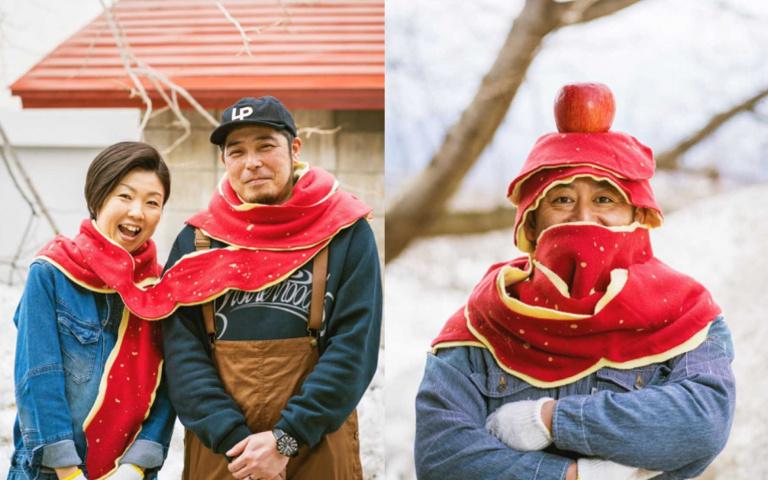 情侶放閃必備!來自青森的「蘋果圍巾」,今年寒冬就靠它度過啦!