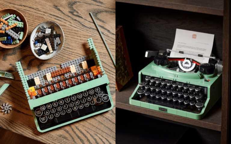 樂高推出復古薄荷綠「打字機」盒組,按鍵還可以敲擊模擬打字!