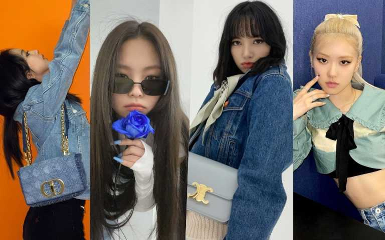 BLACKPINK Lisa、Jennie、Rose、JISOO全員到齊!Dior漸變色包款、Celine丹寧帽、指甲、彩妝通通換上單寧藍、baby藍、天空藍!尤其Jennie的光療色必須學起來!