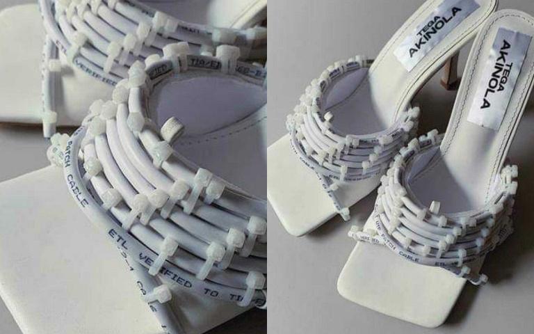 創意無限 運用日常物品改造穿搭 堪比藝術品的著物 Tega Akinola !