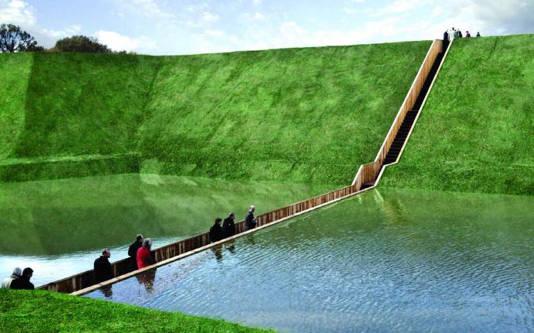 神蹟再現?藏身在水面下、隱形的荷蘭「Moses bridge摩西橋」