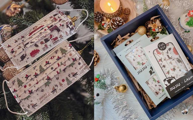 馬來貘隨身戴著走!聖誕款口罩超Q上市 交換禮物就決定是它了