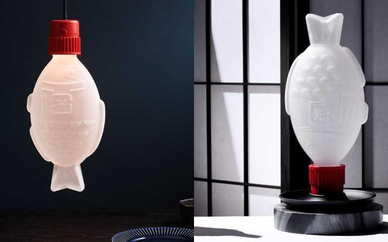 壽司「小魚醬油瓶」放大變身燈飾,超萌造型還兼顧環保概念!
