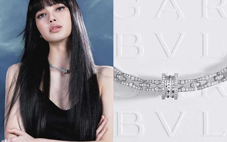 長髮LISA超性感配戴寶格麗「B.zero1 Rock Chain」,鑲嵌璀璨奢華鍊節,不羈工業風鉚釘鍊墜靚演百搭品味