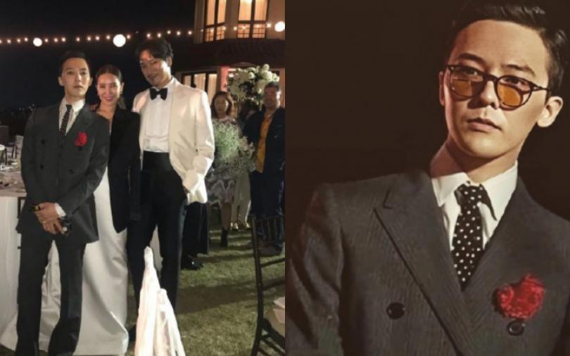 姐夫輸慘了 權志龍時髦範參加姐姐婚禮帥翻全場