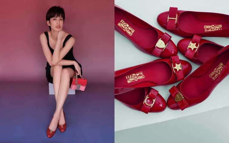 時隔7年回鍋 陳庭妮重穿Salvatore Ferragamo訂製小紅鞋