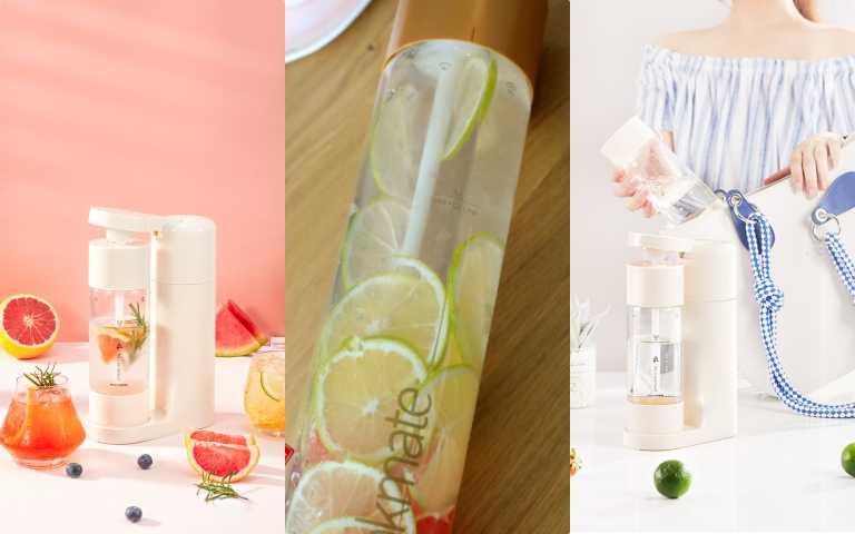 美肌氣泡飲料自己在家做!全球最迷你的超夢幻drinkmate氣泡機,推出限量草莓牛奶色、奶油白!