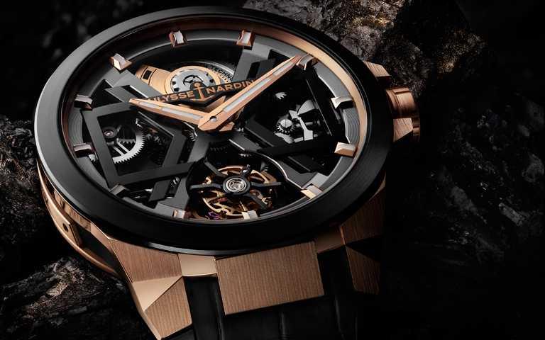 凌厲線條強悍本色!雅典錶「BLAST」系列鏤空陀飛輪腕錶 浮雕藝術展演冰與火之極境讚歌