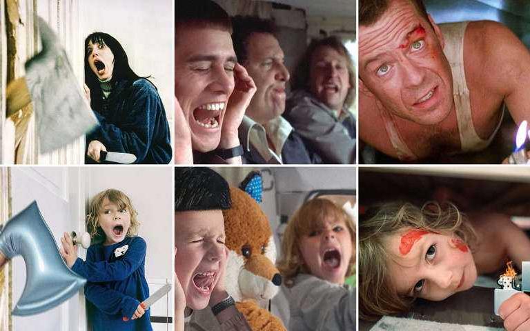 5歲小孩致敬電影場景!可愛極了~