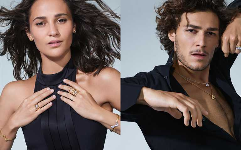 路易威登「LV VOLT」珠寶全新形象釋出!奧斯卡影后vs.巴黎首席芭蕾男星  動感演繹幾何美學