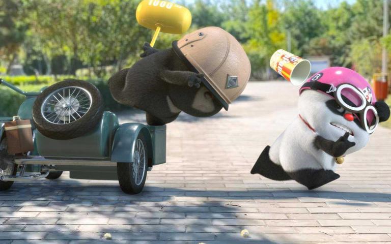 當「小熊貓」遇上「小黑熊」還做出什麼好笑的事勒?