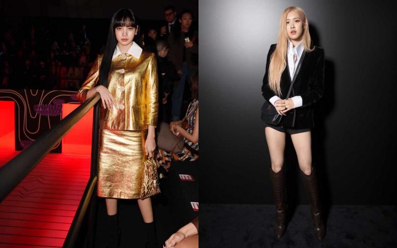 時髦不輸Jennie!Lisa一身金扮人間芭比、Rose帥氣秀逆天長腿參與2020秋冬時裝週