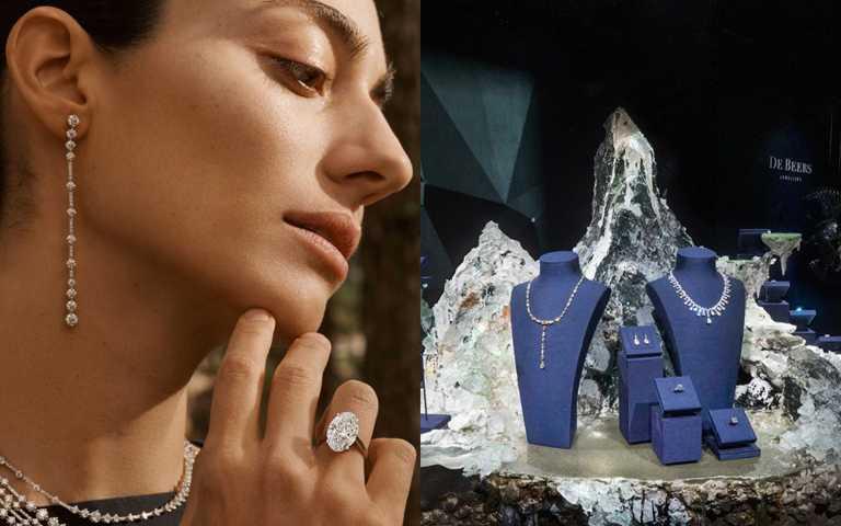 玩美女人閃耀鑽石光芒!DE BEERS《Nature's Wonders頂級珠寶展》結合當代藝術打造珍稀鑽石幻美旅程