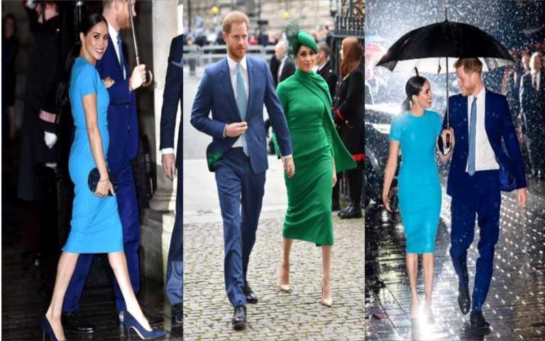 完全無違和 哈利王子與梅根王妃最後公開身影超繽紛 一起學英倫皇室的色彩學穿搭
