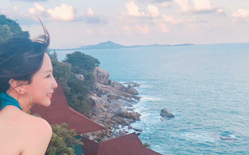 潘嘉麗曼谷轉機驚魂 蘇美島度假渾然不知有豔遇