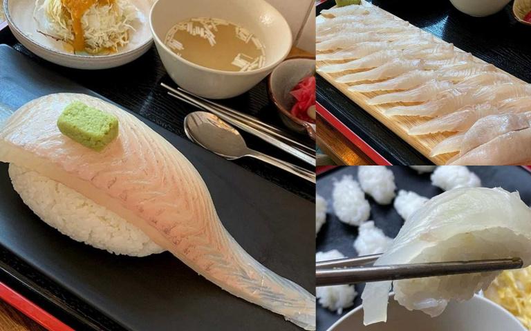 跟手臂一樣長!足足可做成30個一般握壽司的「濟州島巨型握壽司」