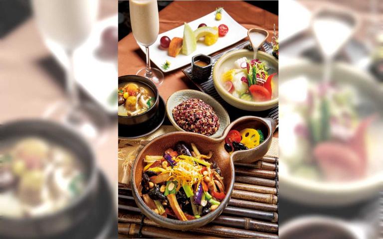 強身料理1/寬心園精緻蔬食料理 天宮寶貝好菌多