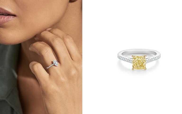 多款精湛花式切割與彩鑽選擇 為您打造雋永獨特的完美鑽戒