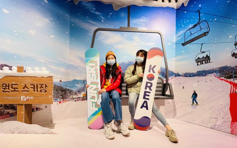 一秒飛韓國玩雪!KOREA PLAZA將江原道滑雪場搬到台灣