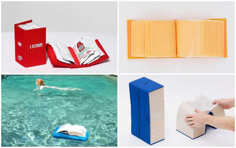 顛覆你對書的想像!腦洞大開設計師把番茄醬、起司裝訂成冊,還有專屬泳圈書套!