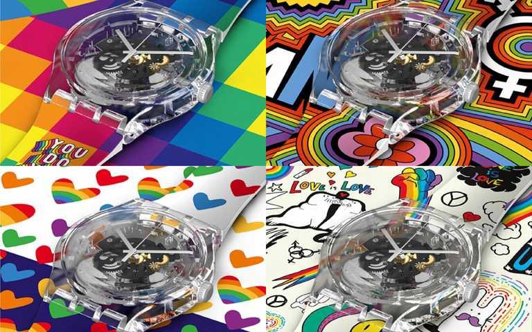將彩虹光譜揮灑在手!穿戴SWATCH Pride腕錶、訂製SXY繽紛藝術錶盤,驕傲歡慶多元生命平等價值