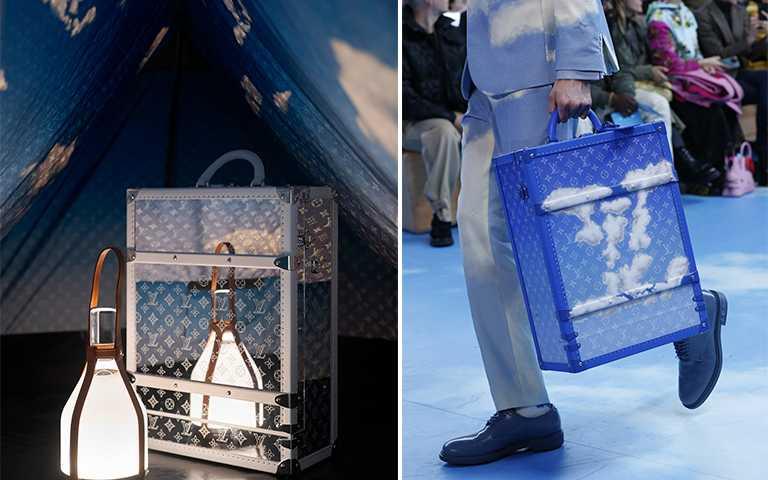 LV全新「藍天行李箱」,直接把藍天白雲打包去旅行!