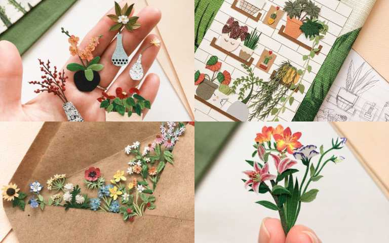 精緻程度破表!俄羅斯藝術家用指尖玩出一片花園,藤編、紋理都難不倒她