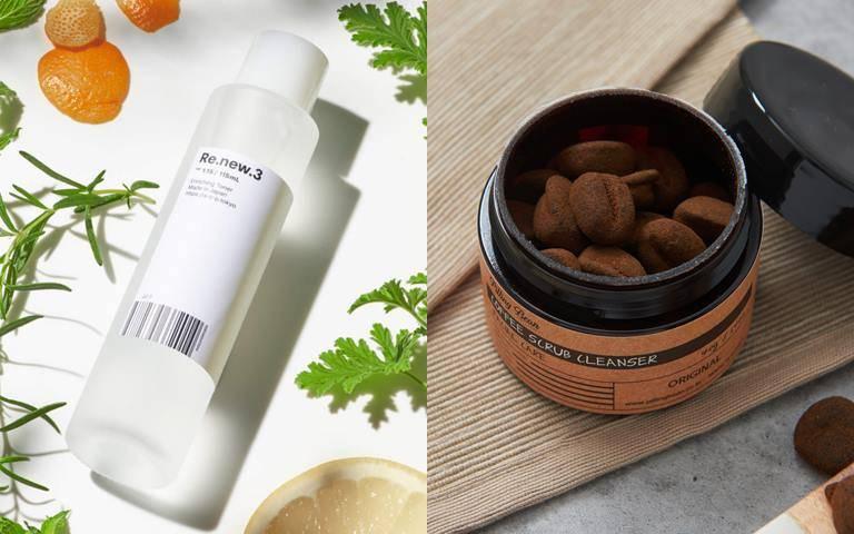 用手輕抹就OK的肌能水、咖啡渣做成的磨砂豆…最方便最有趣的去角質新品登場囉!