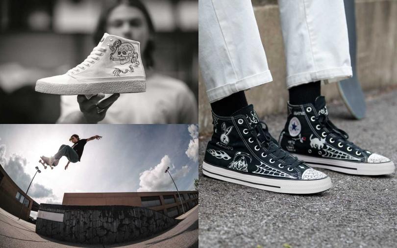 滑板鞋X刺青X手繪設計 譜出有態度的街頭藝術新作!