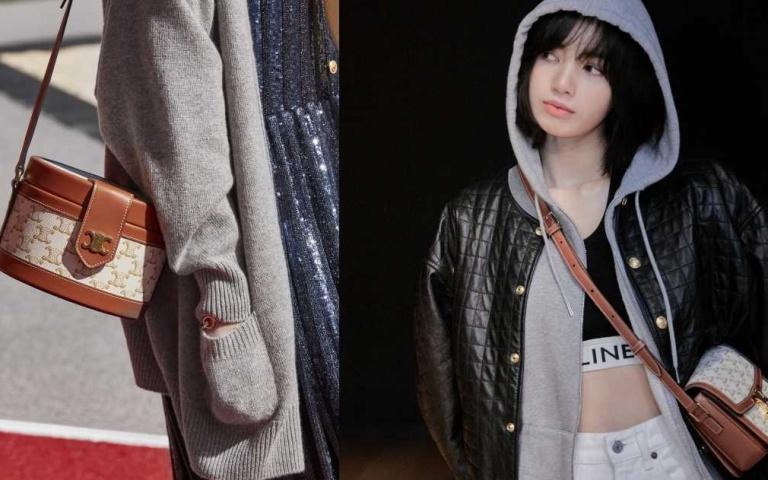 一定要有這款老花白包!BLACKPINK LISA搶背全新CELINE TRIOMPHE CANVAS白色帆布包款!