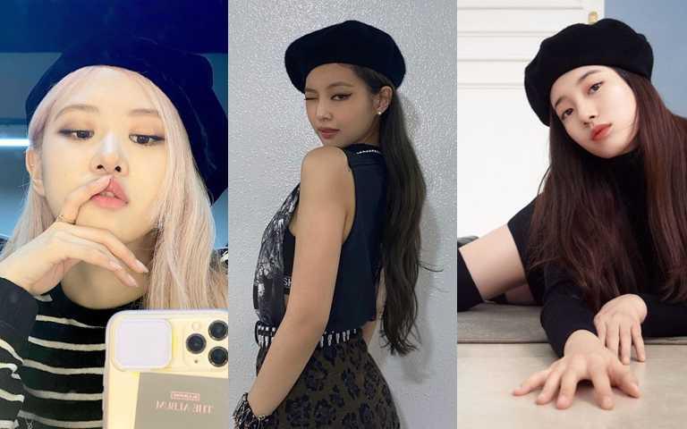 秀智、Rosie、Jennie、TWICE娜璉都在瘋「貝蕾帽」!保證是扁頭人也能駕馭的最美帽款!