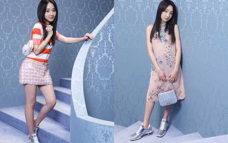 運動風格的華麗變身:李沐穿上MIU MIU2021春夏系列 打造正式又休閒的新女孩風格
