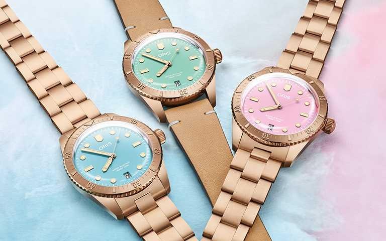 笑迎嶄新花漾年華!ORIS「Cotton Candy」腕錶玩轉棉花糖調色面盤 繽紛調劑美好溫暖時光