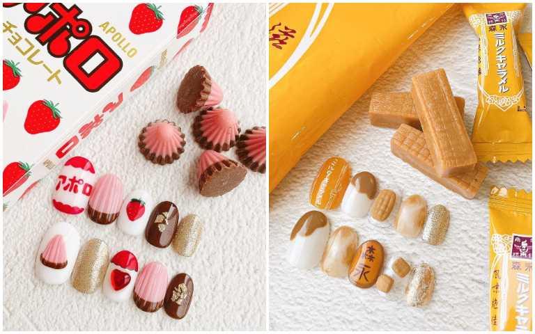 零食控必收!超可口美甲樣式,經典糖果帶著一起走!