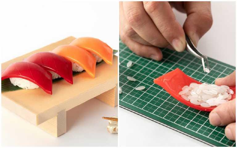 地獄級模型!史上最高難度「壽司模型」,364顆米粒拼到你手軟!