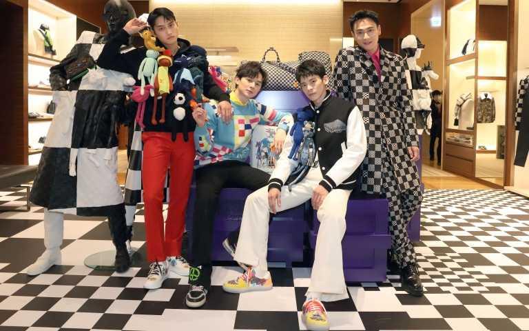 范少勳、林柏宏、張軒睿、劉冠廷穿LV最新春夏男裝,拼比誰的朋友多!