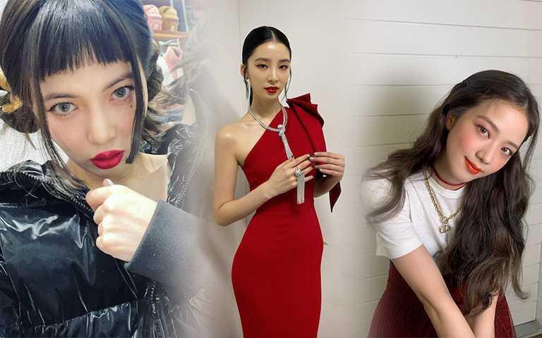 快看名人教你駕馭「喜氣紅」!大紅唇、東方紅服飾這樣穿,不俗氣更有貴族感