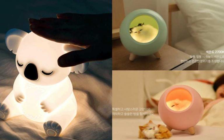 顛覆你對夜燈的想像!韓國推出「可愛動物夜燈」系列,讓你安心睡到天亮!
