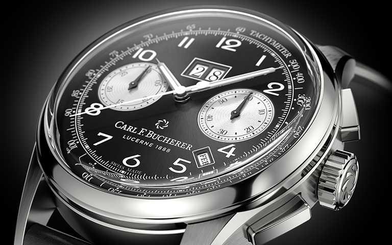 反轉熊貓面盤黑白本色!寶齊萊「Heritage BiCompax Annual」傳承系列年曆雙盤計時碼錶,優雅承襲50年代雙環計時風格