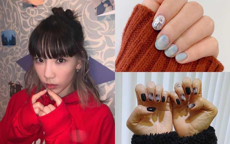 韓妞瘋打卡#마블네일 低調奢華的「大理石暈染指彩」,年末最流行的韓國時尚話題,快跟上!