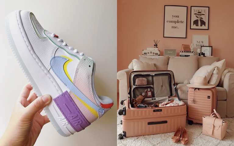打造時尚生活 流行球鞋到行李箱粉嫩色全包了!