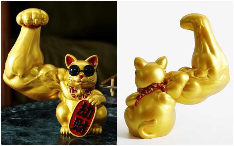 招財貓不夠用啦?!超壯「麒麟臂」招財貓,爆筋肌肉根本是「劫財」等級!