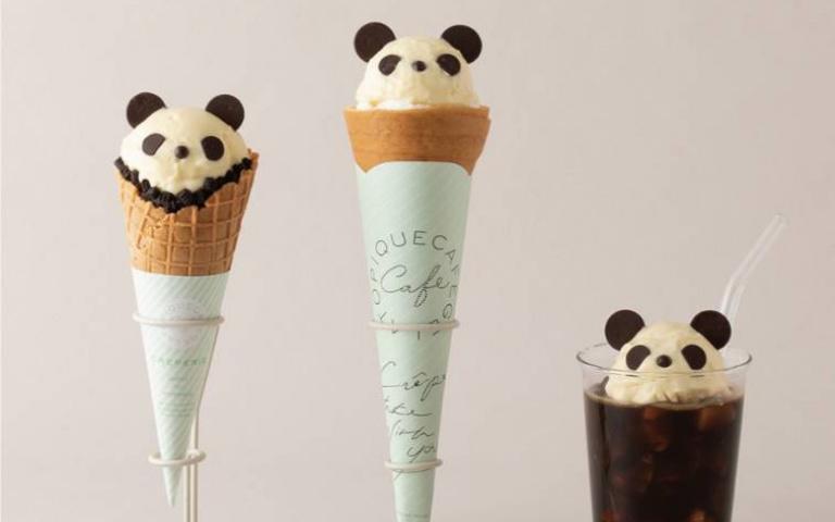 gelato pique cafe超萌熊貓甜點!可麗餅、冰淇淋、漂浮咖啡療癒到不行!