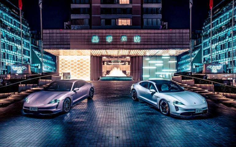保時捷純電跑車Taycan現在可在晶華酒店免費充電瞜!