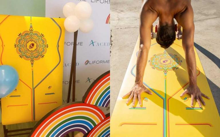 支持LGBT!LIFORME 彩虹希望限定經典瑜珈墊