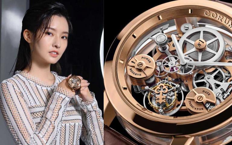 〔Watch〕氣質女星陳語安魅力站台CORUM崑崙表全新「LAB 02系列」飛行陀飛輪限量腕錶